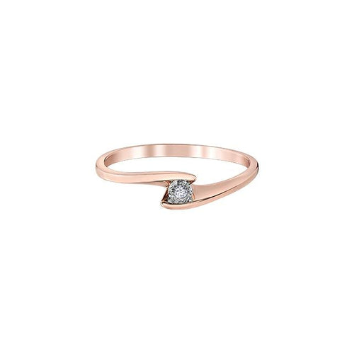 10K W GOLD 1 DIA= .015 CT ILLUSION SETTING, SWIRL STYLE PROMISE RING