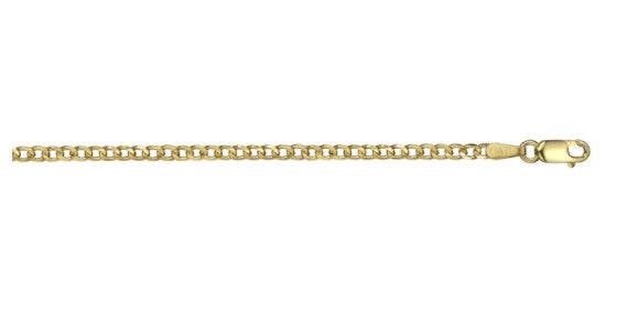 10k Yellow Gold Open Curb Link Chain(18 inches, 4.1 g)