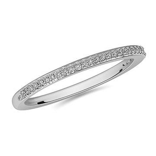 14K White Gold Diamond 3/4 Eternity Band in Prong Setting (32310)