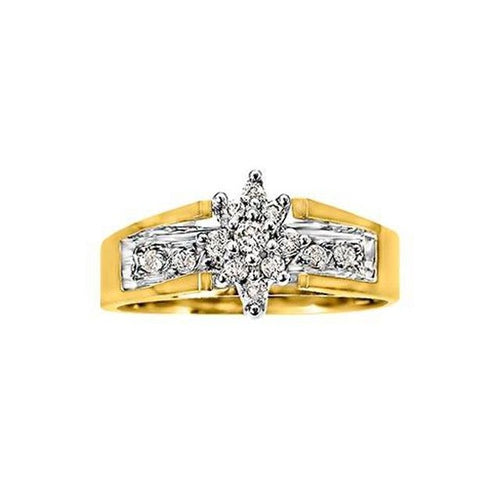 10KT YELLOW GOLD ENGAGEMENT RING (SKU 32207)