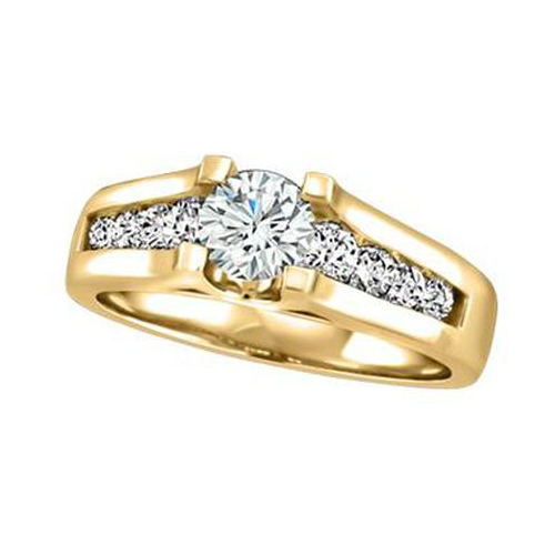 "14KT YELLOW GOLD ""DESTINY"" COLLECTION ENGAGEMENT RING (SKU 13678)"