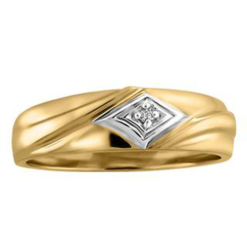 10KT YELLOW GOLD WEDDING BAND (SKU 32219)