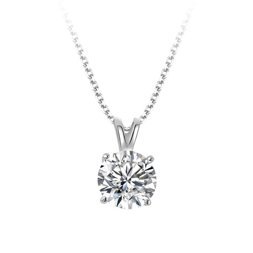 Sterling Silver 10mm Cubic Zirconia Pendant (sold)