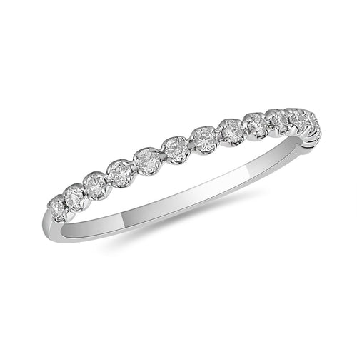 10K Yellow Gold and Diamond Anniversary Band in Prong Setting (32342)