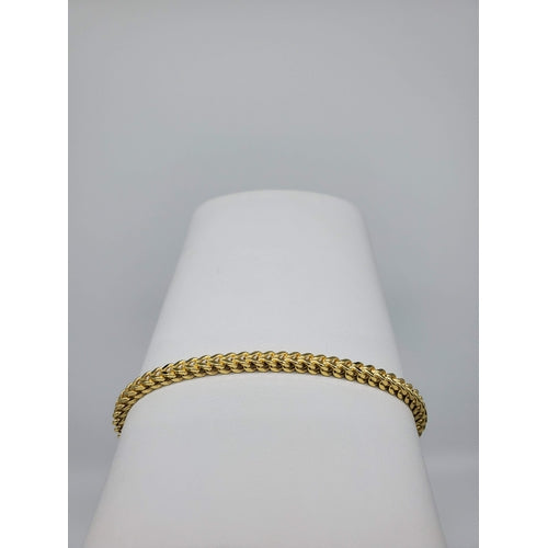 10kt Yellow Gold Hollow Franco Bracelet (32107)