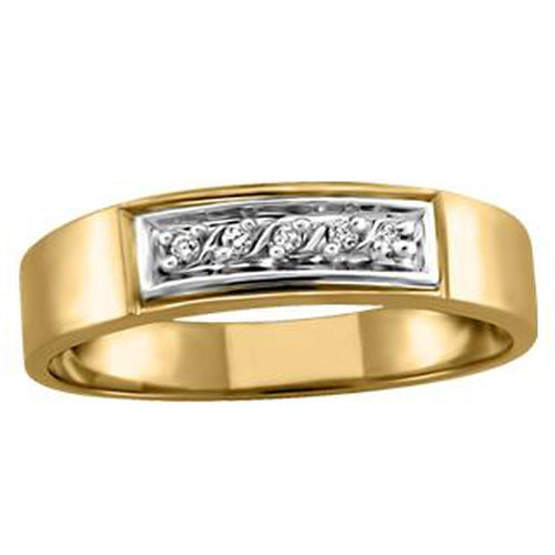 10KT YELLOW GOLD WEDDING BAND (SKU 32217)