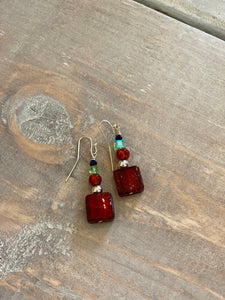 MH Glass Dangle Earrings