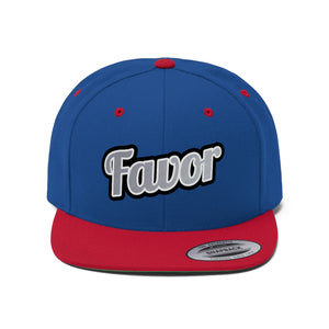 Unisex Favor Flat Bill Hat / 6 Colors