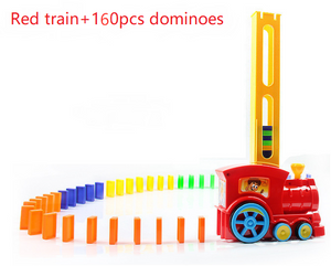 Automatic Electric Puzzles Domino Train For Kids