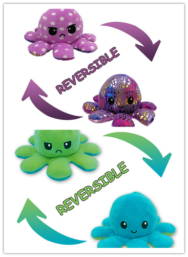 Cute Double-sided Octopus Plush Toy