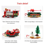 Christmas Electric Rail Car Train Toy Children's Electric Toy Railway Train Set