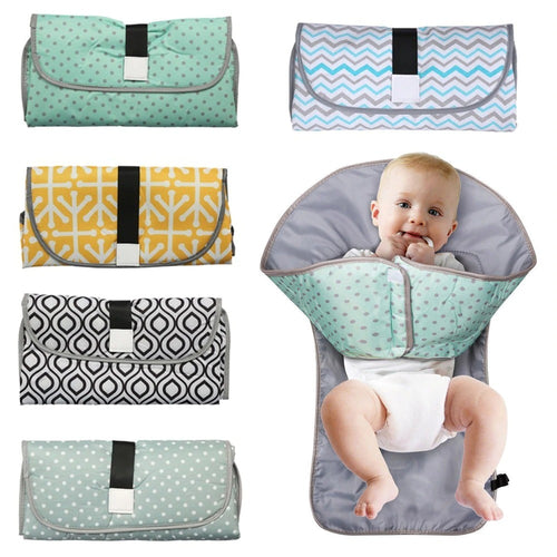 Portable Diaper Changing Pad Clutch for Newborn
