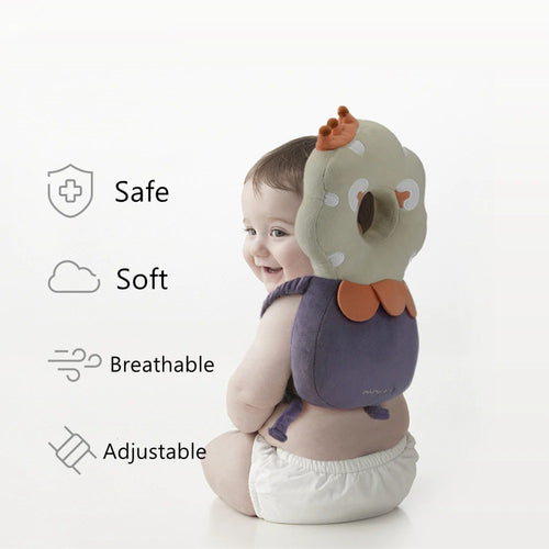 BC Babycare Cotton Baby Head Protection Pillow Infant Anti-fall Adjustable Soft Pillow Toddler Protective Cushion Baby Safe Care