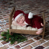Christmas Baby in Majestic Romper Jumpsuit & Blanket