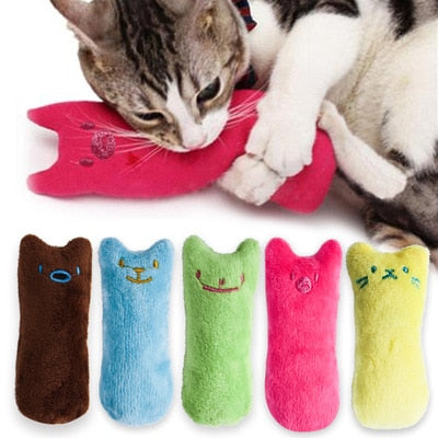 Teeth Grinding Catnip Funny Interactive Plush Cat Toys