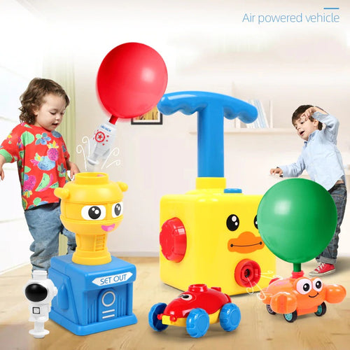 Power Balloon Launch Tower Toy Puzzle Fun Children Education