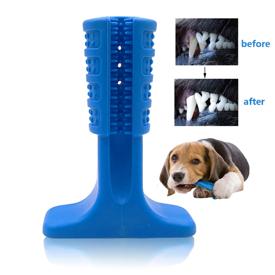 Silicone Dog toothbrush pet toy pet dog chewing toy Teddy Small Dog Toothbrush Stick Perfect Dog Teeth Care Products Cleaning Mo
