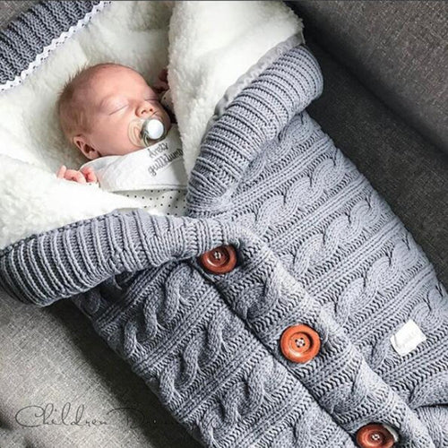Warm Baby Blanket Knitted Soft Sleeping Bag
