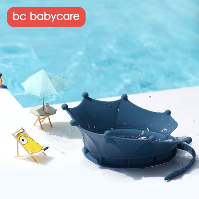 BC Babycare Baby Shower Cap Silicone Shower Bathing Hat Adjustable Shower Cap Kids Infants Soft Protection Eyes Safety Hats
