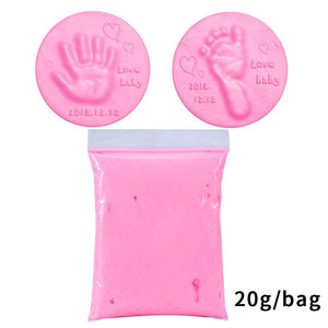 Baby Air Drying Soft Clay Handprint Footprint Imprint Casting Kit