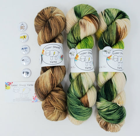 Lazer Sheep Yarn, custom dyed yarn, hand-dyed yarn, star wars, may the fourth be with you, giveaway