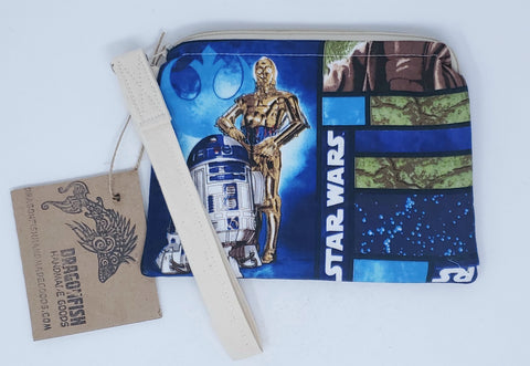 Star Wars, clutch, notions clutch, custom, handmade, giveaway, upcycle, love, yoda, c3po, r2d2, may the fourth be with you