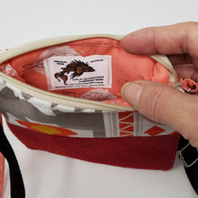 Load image into Gallery viewer, Ralph Lauren Polo & Tribal Pattern Crossbody 3-way Upcycled Cell Phone Bag
