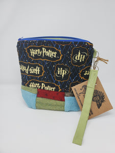 Patchwork Wool Harry Potter Upcycled 8x9 Project Bag