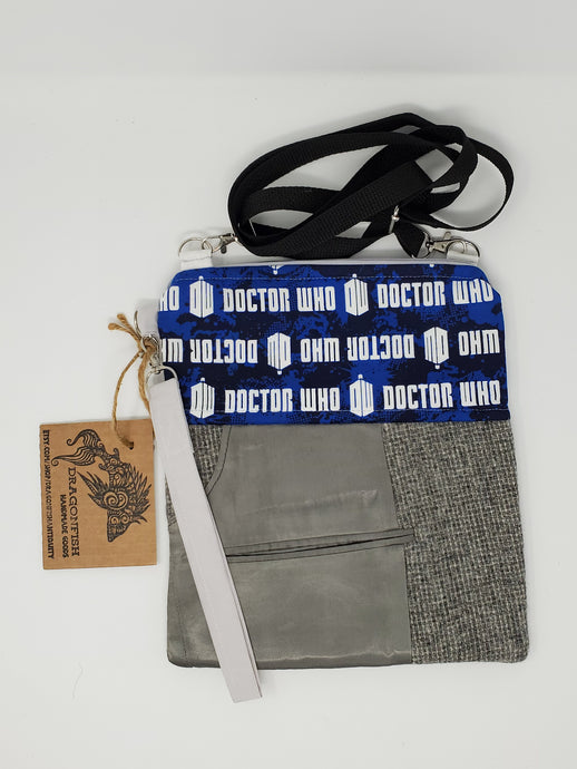 Zygon  Weeping Angels  upcycled  upcycle  Tardis blue  Tardis  suit coat  suit  shoulder bag  Sally Sparrow  Rory and Amy  River Song  river  recycle  purse  print  ooak  One of a kind  Matt Smith  jacket  hippie  hip bag  Handmade  fanny pack  Dragonfish Handmade Goods  Doctor Who  David Tennant  dark  crossbody  coat  clutch  Clara Oswald  chic  cell phone bag  boho chic  boho  bohemian  blue  belt bag  bag  Amy Pond  3way  3 way crossbody bag