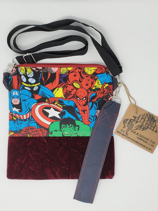 upcycled  upcycle  thor  spiderman  Spider-Man  shoulder bag  sale  recycle  purse  pop culture  OOAK  One of a kind  Marvel  ironman  iron man  hulk  hippie  hip bag  Handmade  fanny pack  crossbody  comics  comic  clutch  chic  Captain America  boho chic  boho  bohemian  belt bag  bag  80s pop culture  80s  3way