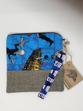 Load image into Gallery viewer, Zygon  Weeping Angels  upcycled  upcycle  the silence  Tardis blue  Tardis  suit coat  suit  shoulder bag  Sally Sparrow  Rory and Amy  River Song  recycle  purse  print  Matt Smith  jacket  hippie  herringbone  Handmade  Doctor Who  David Tennant  dark  coat  clutch  Clara Oswald  chic  cell phone bag  boho chic  boho  bohemian  blue  bag  Amy Pond  Allonsy