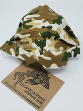 Load image into Gallery viewer, Camouflage Upcycled Mask with Elastic