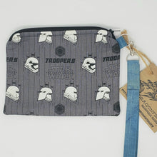Load image into Gallery viewer, Vintage Herringbone Suit Star Wars Trooper Upcycled 8x6.5 Notions Clutch