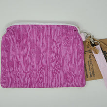 Load image into Gallery viewer, Vintage Gold Corduroy and Pink Wood Upcycled 8x6.5 Notions Clutch