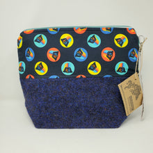 Load image into Gallery viewer, Blue & Black Sweater Rainbow Darth Vader Star Wars Upcycled 14.5x11 Project Bag