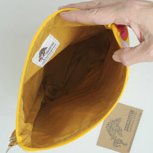 Load image into Gallery viewer, Yellow Ruler Remnant Valentine Hearts Upcycled 10x11 Project Bag