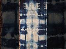 Load and play video in Gallery viewer, upcycled  upcycle  tie dyed  tie dye  textile  Tardis blue  skirt  recycle  Phulkari  panel  OOAK  One of a kind  natural dye  indigo dyed  indigo blue  indigo  Indian textile  Indian fabric  Indian  Handmade  Hand-dyed  flowers  floral  fabric  embroidery  embroidered  dyed  Dragonfish Handmade Goods  deep blue  bright blue  blue