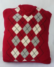 Load image into Gallery viewer, Upcycled Argyle Sweater Pillow handmade