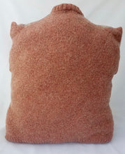 Load image into Gallery viewer, Upcycled Vintage Felted Pink Argyle Sweater Pillow