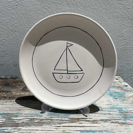Plate with Boat