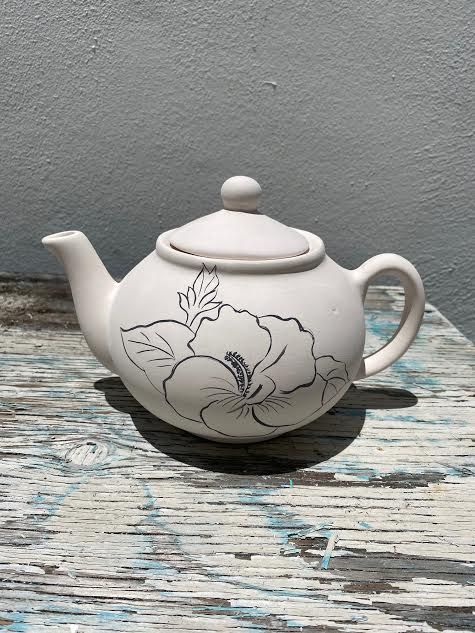 Teapot with Hibiscus
