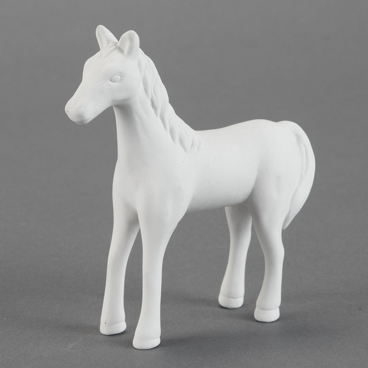 Cute Standing Horse Bisque
