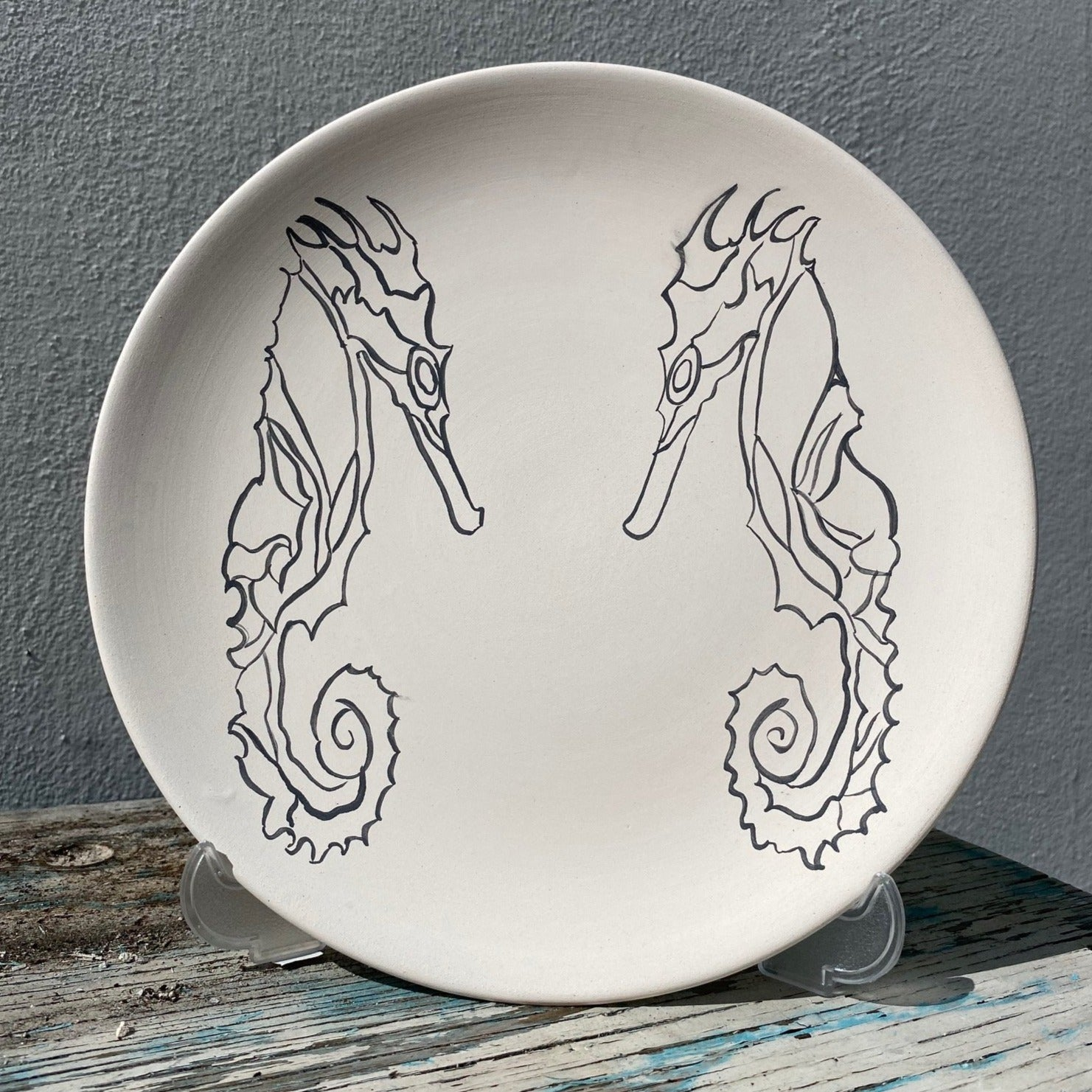 Plate with Sea Horses