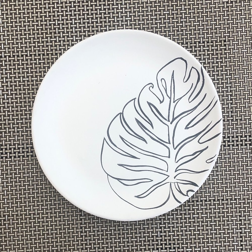 Plate with Leaf