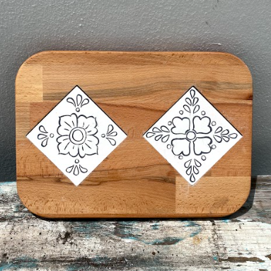 Cheese Tray with Two Tiles 2