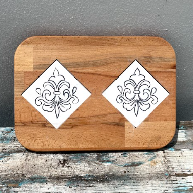 Cheese Tray with Two Tiles 3