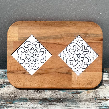 Cheese Tray with Two Tiles 5