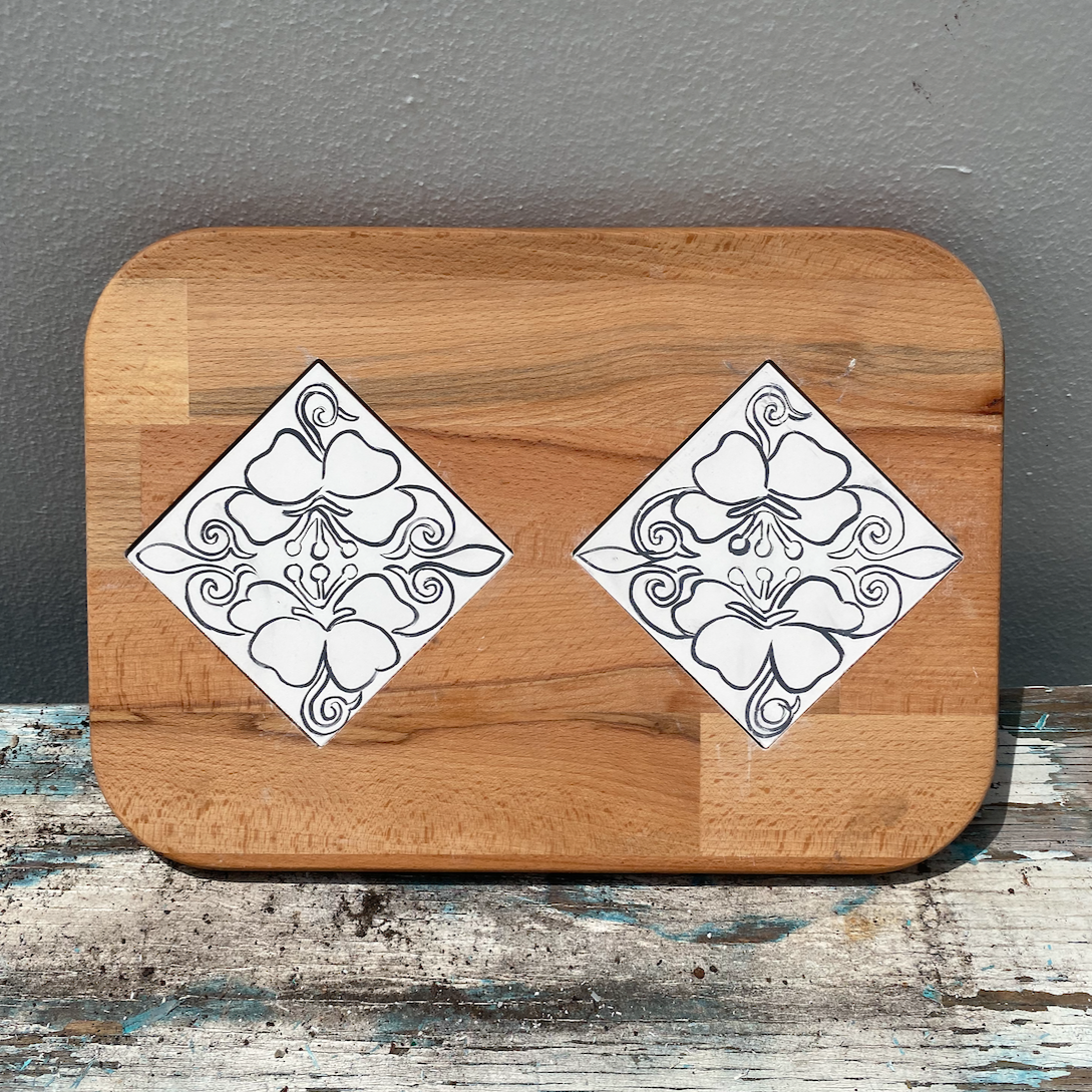 Cheese Tray with Two Tiles 1