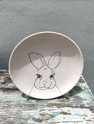 Open image in slideshow, Plate with Easter Bunny