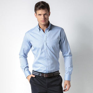 KK113 Kustom Kit Slim Fit Premium Oxford Shirt Long-Sleeved (Slim Fit)